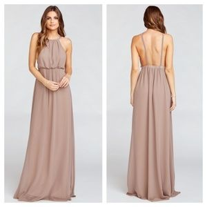 [Show Me Your Mumu] Dune Amanda Halter Maxi Dress